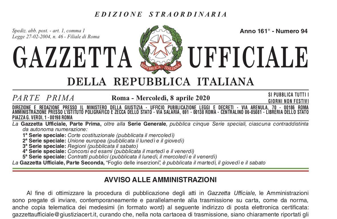 COPERTINA decreto liquidita 8 aprile 2020 n23